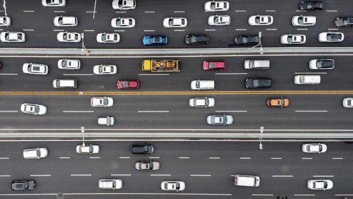 The researchers monitored the traffic patterns of Wuhan