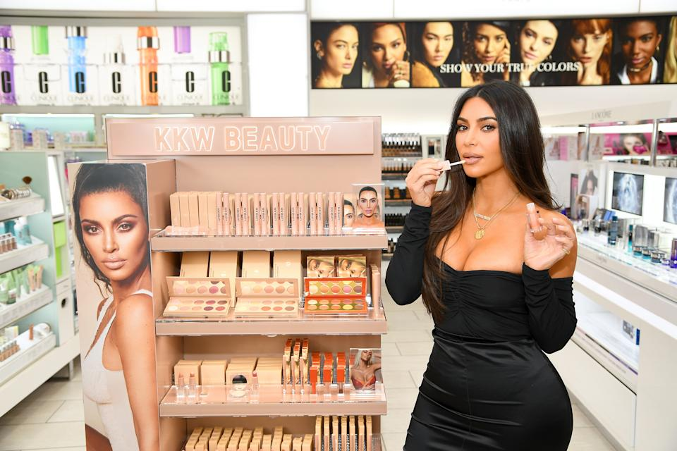 Kim Kardashian attended the KKW Beauty launch at ULTA Beauty in 2019 in New York City. (Photo: Dimitrios Kambouris/Getty Images for ULTA Beauty / KKW Beauty)