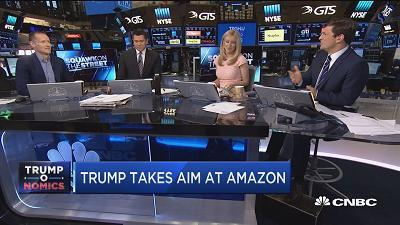 Gene Munster, Loop Ventures founder, discusses President Trump going after Amazon founder Jeff Bezos. Munster says Trump is attempting to undermine the credibility of the Washington Post, which Bezos owns.