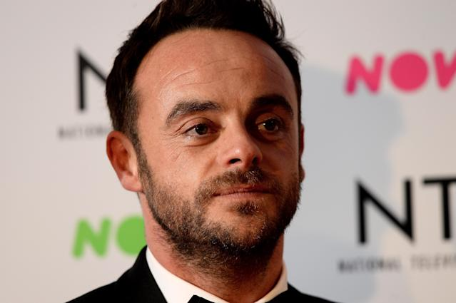 Anthony McPartlin attends the National Television Awards 2018 at The O2 Arena on January 23, 2018 in London, England. (Photo by Dave J Hogan/Dave J Hogan/Getty Images)