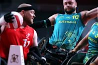 Australia's wheelchair rugby team suffered a shock loss to Denmark, setting back their bid to defend their gold