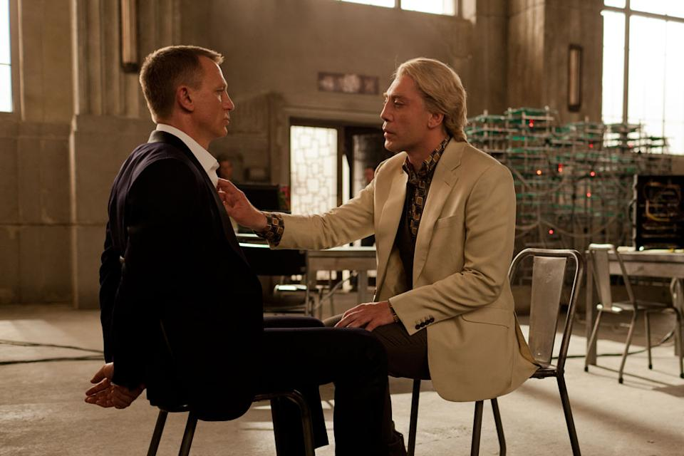 """Daniel Craig and Javier Bardem in Columbia Pictures' """"Skyfall"""" - 2012"""