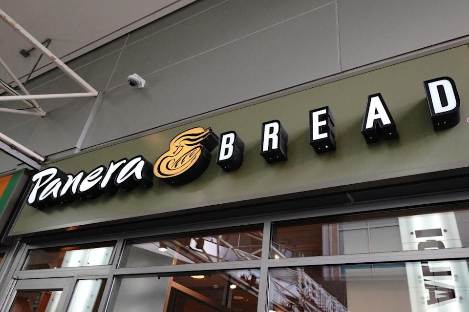 a marquee for Panera Bread