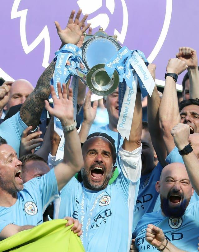 Guardiola's City clocked up a record 100 points in their 2017-18 title win