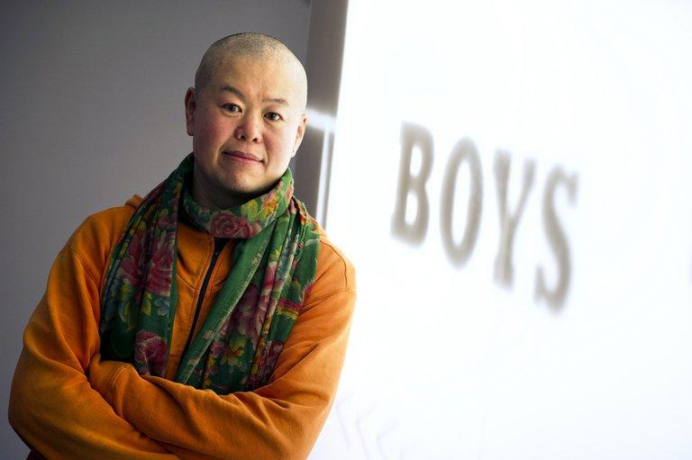 Chinese director Cui Zi'en pictured on February 9, 2013 in Paris. A film scholar and gay activist who has written nine novels including China's first gay novel, Cui has for the last 12 years focused on low-tech digital video (DV) filmmaking as his preferred means of expressing himself