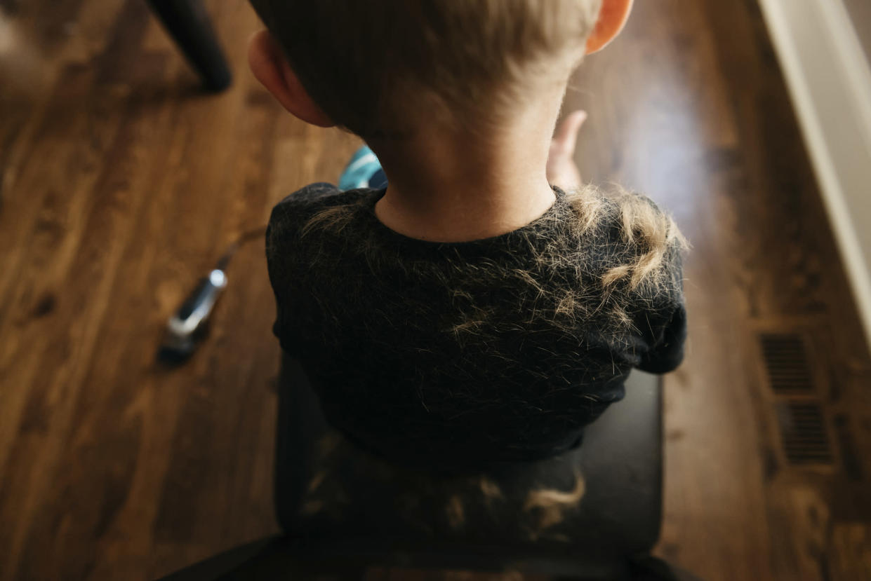 A boy has given his sister and brother a haircut with an electric razor, with hilarious results [Photo: Getty]