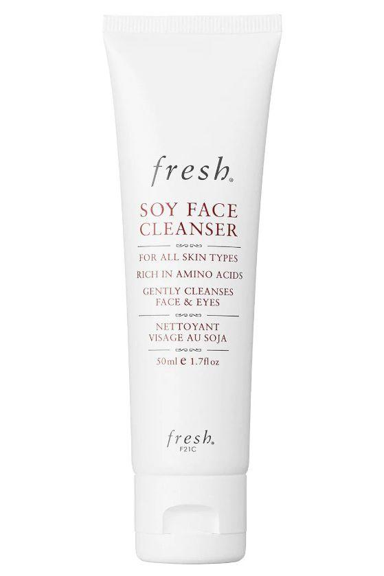 """<p>One of the best cleansers you'll ever try, this face wash gets rud of every speck of makeup, without being too harsh or stripping the skin of all oils and moisture. It leaves the complexion feeling balanced, fresh and clear. Lucky for us, you can order straight from the Fresh website, whoop! </p><p><a rel=""""nofollow"""" href=""""https://www.fresh.com/UK/cleansing/soy-face-cleanser/h00001408.html/H00001408.html"""">buy now</a></p>"""
