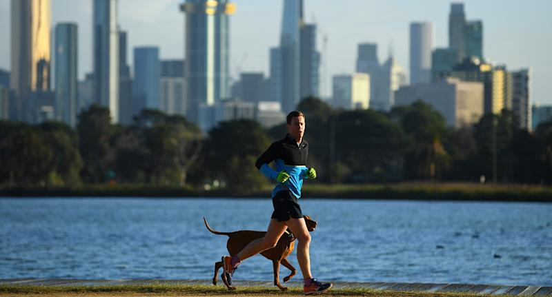 Melbourne residents will reportedly be able to drive five kilometres to exercise from Thursday. Source: AAP