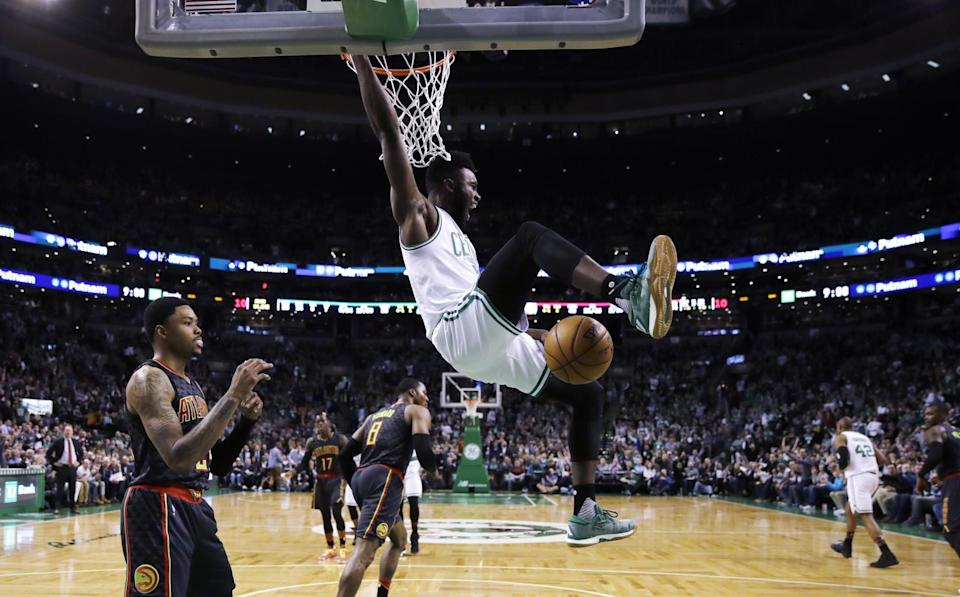 Just 19 years old, Jaylen Brown's been on a steady rise for the Celtics this season. (AP)