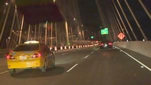 Three eastbound lanes opened on the new Port Mann Bridge in Metro Vancouver early Tuesday morning.