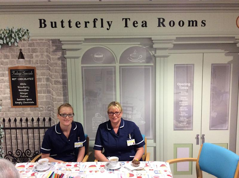 The vintage Butterfly tea room at Airedale Hospital in West Yorkshire: PA