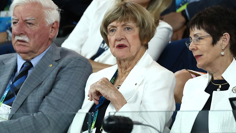 Margaret Court, pictured here watching the women's final at the Australian Open.