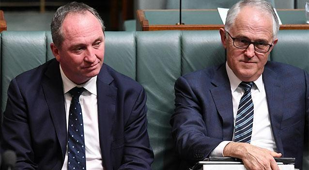 Barnaby Joyce's citizenship dilemma has left Malcolm Turnbull's government hanging by a thread. Photo: AAP