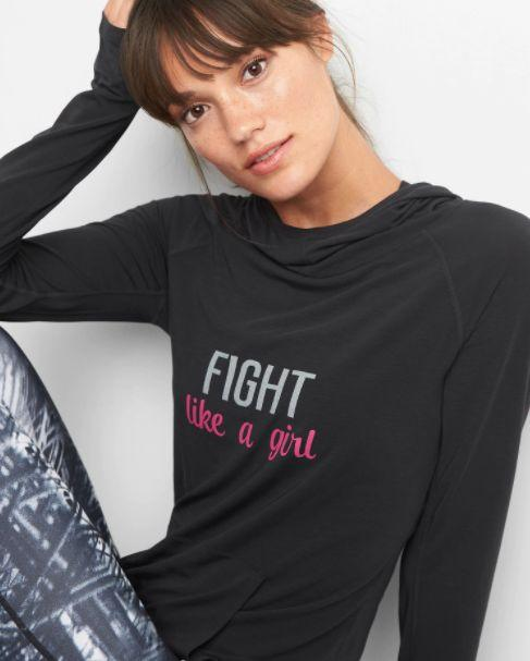 """This breathable, jersey-knit hoodie will donate 15% of its purchase price to the Breast Cancer Research Foundation. Get it <a href=""""http://www.gap.com/browse/product.do?pid=150485002&CAWELAID=120280880001095089&CAGPSPN=pla&CAAGID=41078596683&CATCI=aud-94126610258:pla-296480479421&device=c&product_channel=online&Matchtype=&tid=gppl000013&kwid=1&ap=7&lsft=device:c,cvosrc:cse.google.online_Nonbrand,cvo_campaign:798525486,cvo_pid:41078596683,cvo_crid:189945967822,Matchtype:,tid:gppl000013,kwid:1,ap:7"""" target=""""_blank""""><strong>here</strong></a>."""