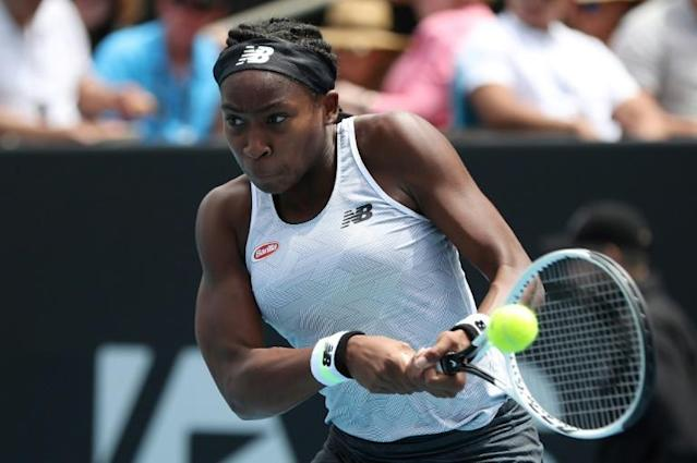 Coco Gauff, 15, was one of the breakout stars of last year (AFP Photo/MICHAEL BRADLEY)