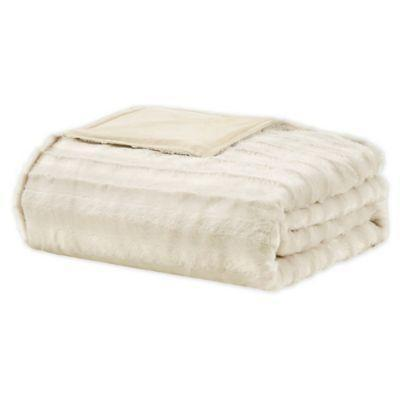 """<p><strong>Beautyrest</strong></p><p>bedbathandbeyond.com</p><p><strong>$99.99</strong></p><p><a href=""""https://go.redirectingat.com?id=74968X1596630&url=https%3A%2F%2Fwww.bedbathandbeyond.com%2Fstore%2Fproduct%2Fbeautyrest-reg-duke-faux-fur-weighted-blanket%2F5335493&sref=https%3A%2F%2Fwww.harpersbazaar.com%2Ffashion%2Ftrends%2Fg32464099%2Fbest-weighted-blankets%2F"""" rel=""""nofollow noopener"""" target=""""_blank"""" data-ylk=""""slk:Shop Now"""" class=""""link rapid-noclick-resp"""">Shop Now</a></p><p>Snuggle up to this faux fur blanket, which feels as good as it looks.</p>"""