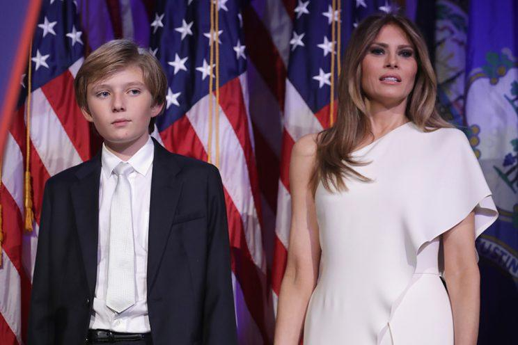 Barron and Melania Trump. (Photo by Chip Somodevilla/Getty Images)
