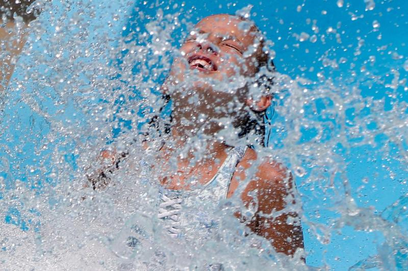 The nation will soon be allowed to swim indoors again (AP)