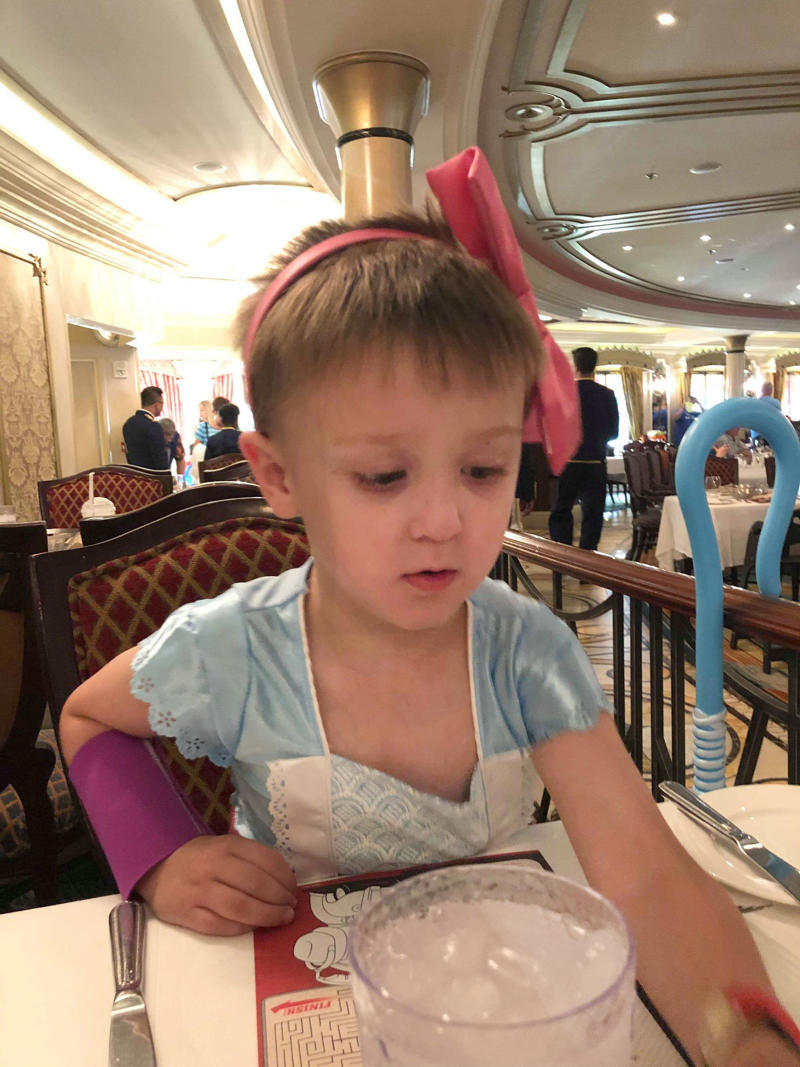 Jameson's mum has spoken out about how she was 'accused of trying to make son gay' after allowing him to wear dresses and buying him princess shirts. [Photo: Caters]