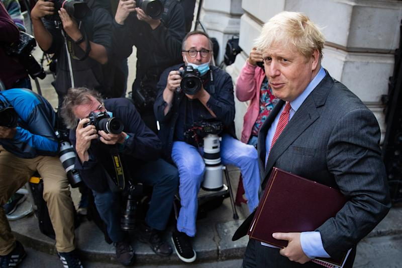 Prime Minister Boris Johnson arrives in Downing Street, London, following a Cabinet meeting at the Foreign and Commonwealth Office.