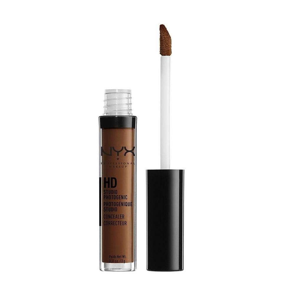 """<p>With <span>NYX Professional Makeup Concealer Wand</span> ($6), you won't look cakey - it melts right into your skin.</p> <p><strong>Customer Review:</strong> """"Phenomenal. Fits perfectly with my skin tone. I use this for my eyebrow definition so the wand makes it for easy application. This is affordable and is of great quality. It's great, it doesn't look 'pasty' on my semi-dry skin. It's not thick compared to quite of few concealers I've used, it has just the right consistency to blend well. I have been using this concealer wand for about a year and a half, highly recommend versus any high-end brands because this does the job, if not better.""""</p>"""
