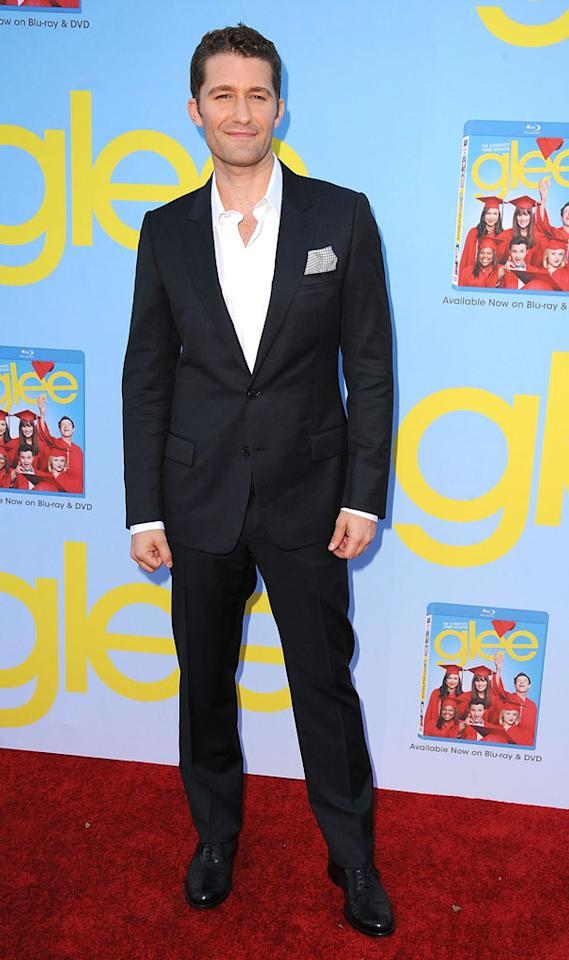 "Matthew Morrison arrives at the ""Glee"" Premiere Screening And Reception at Paramount Studios on September 12, 2012 in Hollywood, California."