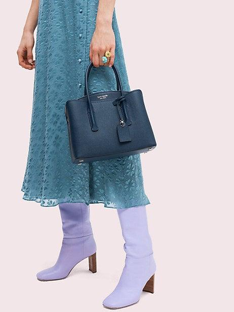 """<h3><a href=""""https://www.katespade.com/"""" rel=""""nofollow noopener"""" target=""""_blank"""" data-ylk=""""slk:Kate Spade"""" class=""""link rapid-noclick-resp"""">Kate Spade</a></h3><br><strong>Dates:</strong> Now - May 14<br><strong>Sale:</strong> Enjoy up to 50% off your full-priced purchase<br><strong>Promo Code:</strong> NEWYOU<br><br>If you're a smarty pants and shopping for grad gifts early, this is a sale you don't want to sleep on. The more you spend, the more you save with 30% off your $150 purchase, 40% off your $250 purchase, and a very enticing 50% off your $350 purchase. <br><br><strong>Kate Spade</strong> Margaux Medium Satchel, $, available at <a href=""""https://go.skimresources.com/?id=30283X879131&url=https%3A%2F%2Fwww.katespade.com%2Fproducts%2Fmargaux-medium-satchel%2FPXRUA161.html"""" rel=""""nofollow noopener"""" target=""""_blank"""" data-ylk=""""slk:kate spade"""" class=""""link rapid-noclick-resp"""">kate spade</a>"""
