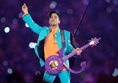 Prince performs at the Super Bowl in Miami in 2007 - Credit: Chris O'Meara/AP