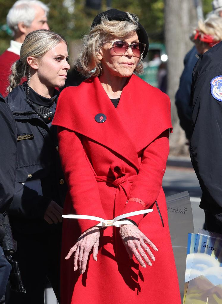 The star has been arrested several times while wearing the iconic coat [Photo: Getty]