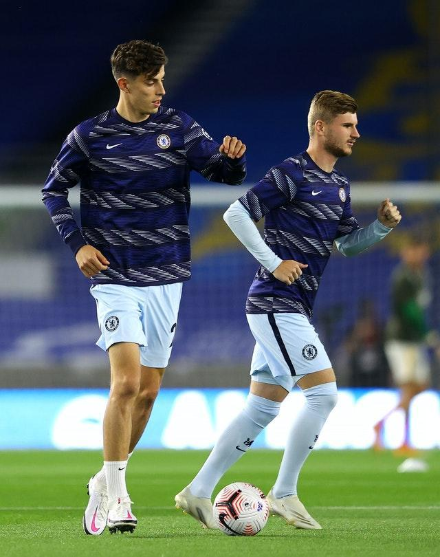 Kai Havertz (left) and Timo Werner moved to Chelsea from the Bundesliga in the summer
