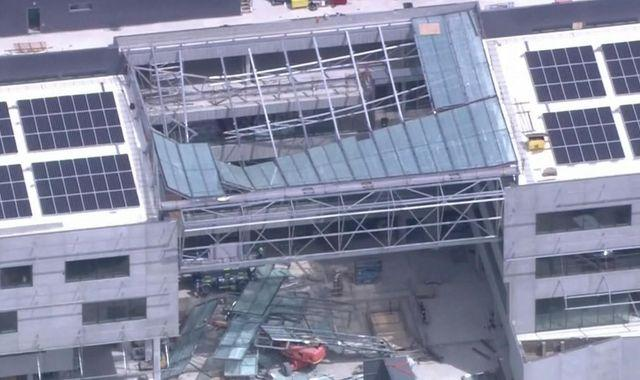 One dead and two injured after roof collapses at Australian university