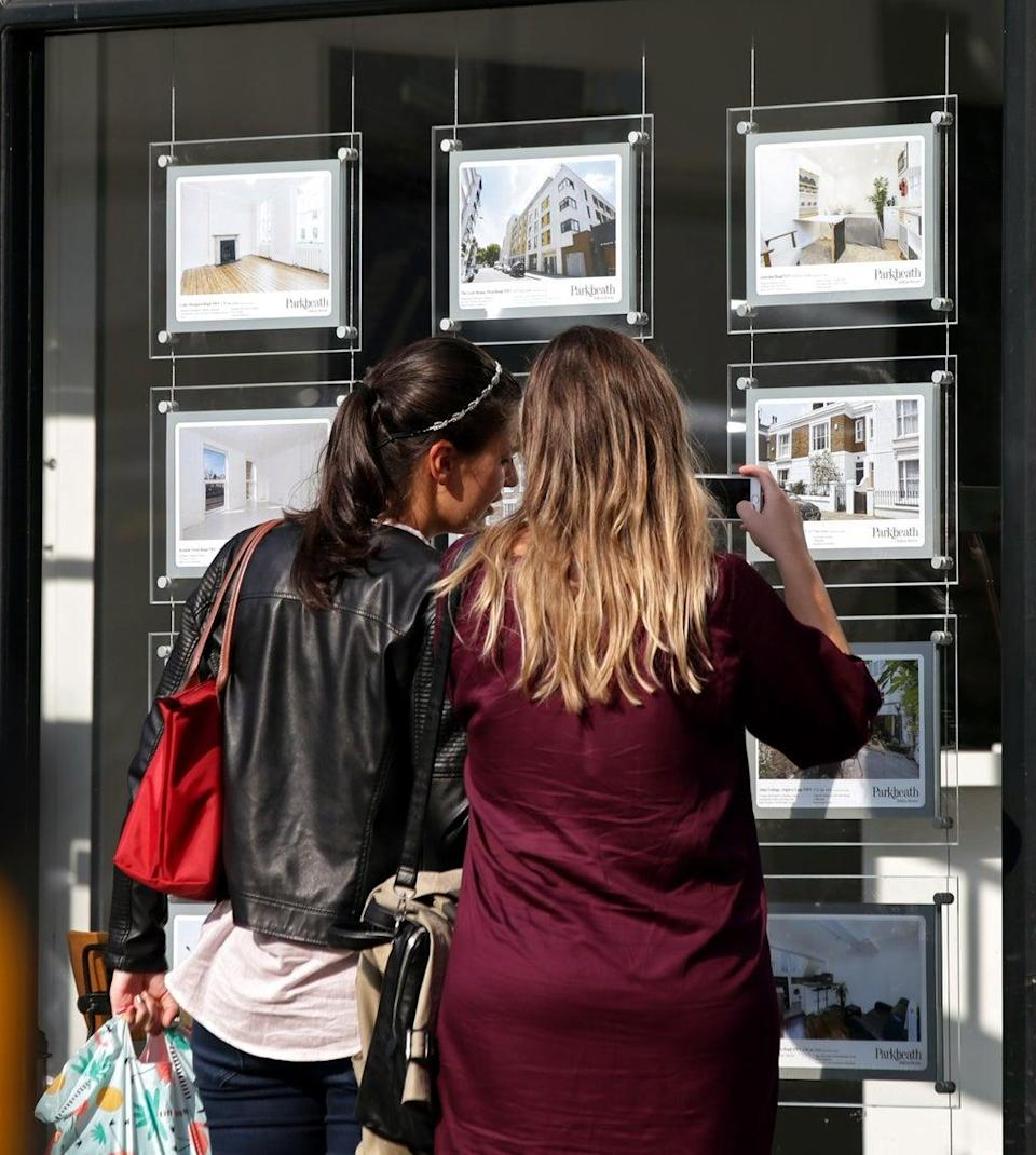 The flow of new homes being put on the market continued to fall in August, pushing the number of properties on estate agents' books close to record lows (Yui Mok/PA) (PA Archive)