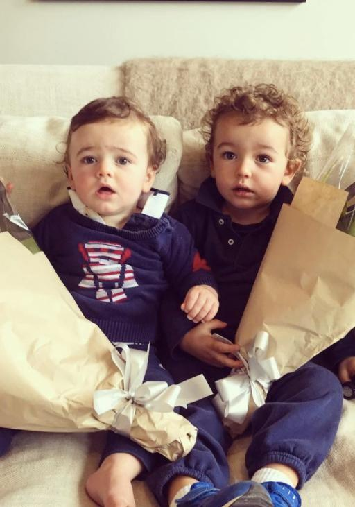 Two-year-old Ted (right) told his dad he 'died in a tunnel in Paris.' Source: Instagram