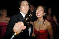 """<p>The<em> Grey's Anatomy</em> star married her <em>Sideways</em> director (also known for <em>The Descendants</em> and<em> Nebraska</em>) in 2003, but they <a href=""""http://people.com/celebrity/alexander-payne-and-sandra-oh-separate/"""" rel=""""nofollow noopener"""" target=""""_blank"""" data-ylk=""""slk:called it quits"""" class=""""link rapid-noclick-resp"""">called it quits</a> in 2005. According to <a href=""""http://people.com/celebrity/sandra-oh-and-alexander-paynes-divorce-finalized/"""" rel=""""nofollow noopener"""" target=""""_blank"""" data-ylk=""""slk:People"""" class=""""link rapid-noclick-resp""""><em>People</em></a>, it took them more than two years to settle their finances.</p>"""