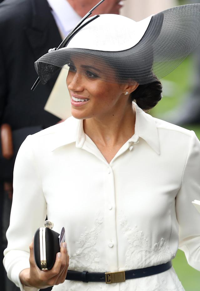 Meghan Markle carried a Givenchy clutch to the Royal Ascot. (Photo: Getty Images)