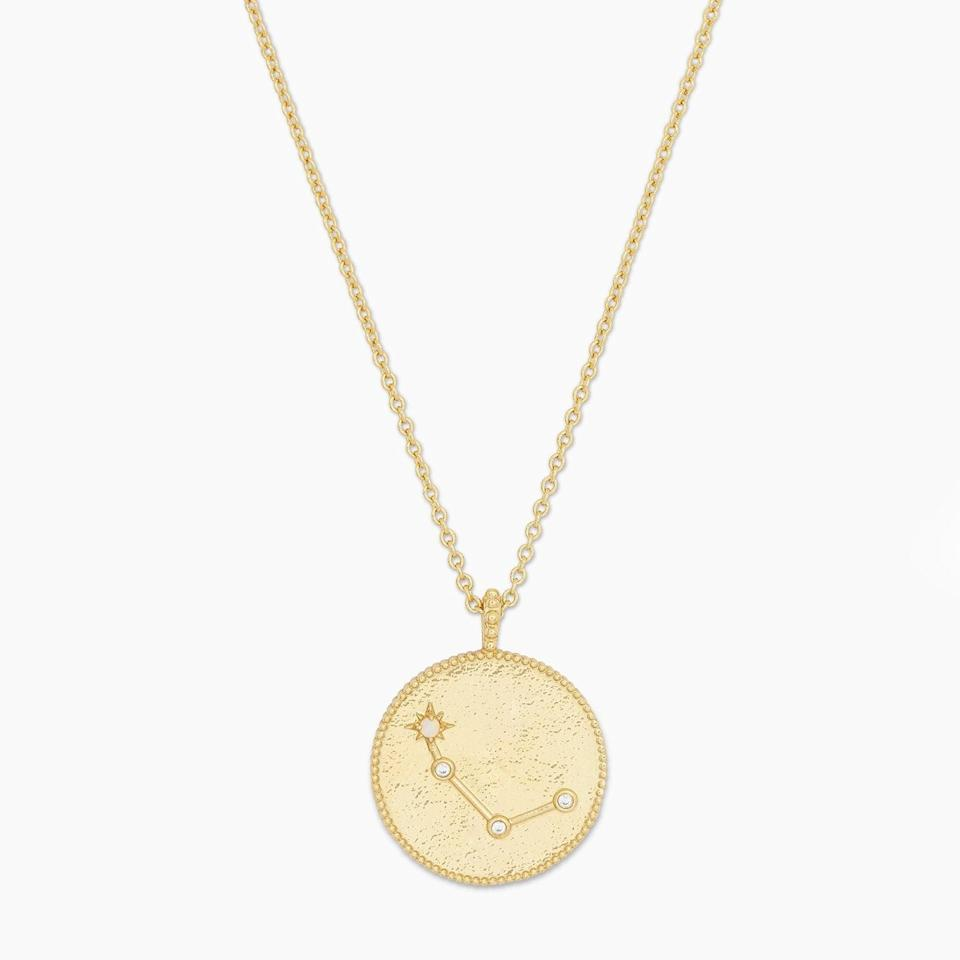 <p>Let them show off their Aries pride with this <span>Gorjana Astrology Coin Necklace</span> ($65).</p>