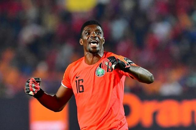 Kaizer Chiefs goalkeeper Daniel Akpeyi defied Orlando Pirates in the Soweto derby with a string of brilliant saves (AFP Photo/Giuseppe CACACE)