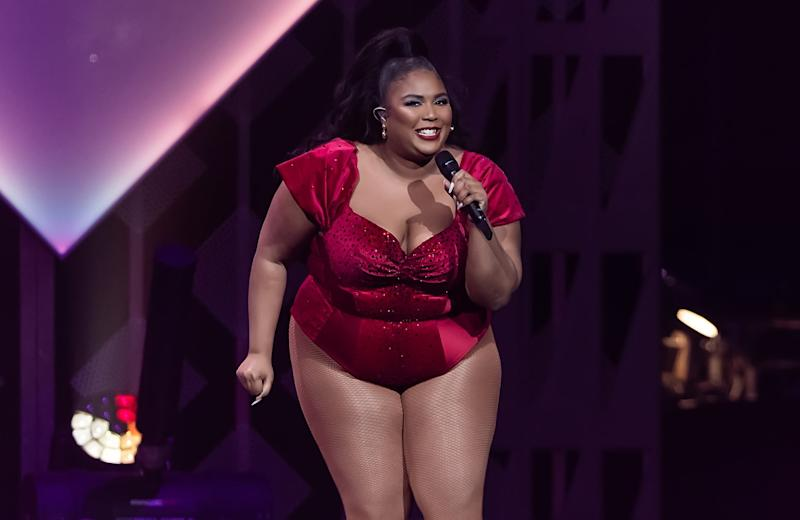 PHILADELPHIA, PENNSYLVANIA - DECEMBER 11: Singer Lizzo performs on stage during Q102's iHeartRadio Jingle Ball 2019 at Wells Fargo Center on December 11, 2019 in Philadelphia, Pennsylvania. (Photo by Gilbert Carrasquillo/Getty Images)