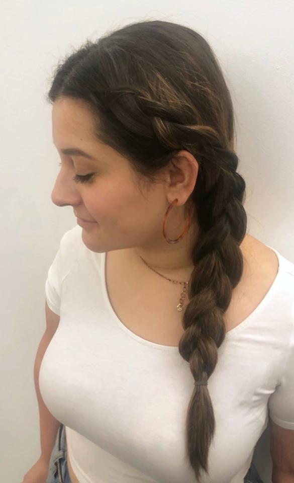 <p>To create this style, I used one three-clip weft on the side of my head without the braid (toward the back of my head) and another on the side of my head with the braid, toward my face. </p> <p>Attaching the hair extensions gave me a lot more hair to work with, making my braid thicker in just minutes. I only used two wefts, but if you wanted an even thicker braid, you'd just add more pieces to another horizontal section of hair, leaving some layers of hair between them. </p> <p>I wear braids often when my hair is dirty or I don't feel like heat styling it, but I never feel like my hair looks that good when I do. Since adding this extra step, however, I've received a ton of compliments. Plus, it didn't even take magic to do it. Take that, Elsa!</p>