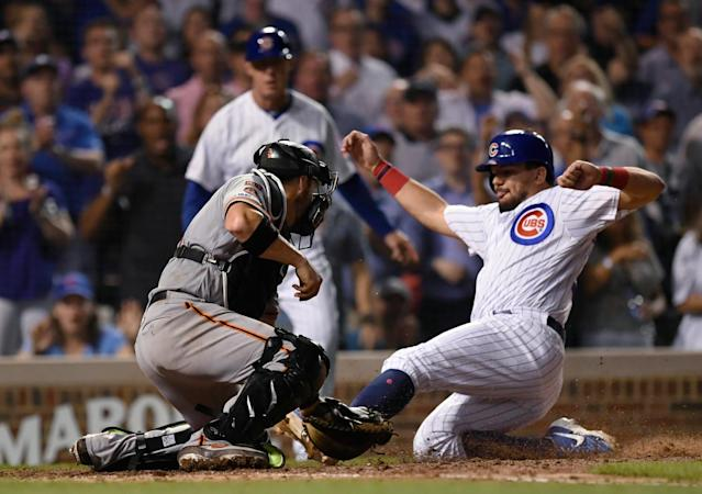 Bryant's HR Leads Cubs To Wild 12-11 Win Over Slumping Giants