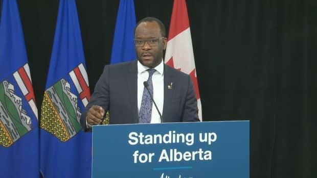 Justice Minister Kaycee Madu on Monday introduced legislation that would allow Albertans to recall MLAs, municipal politicians and school trustees. (CBC - image credit)