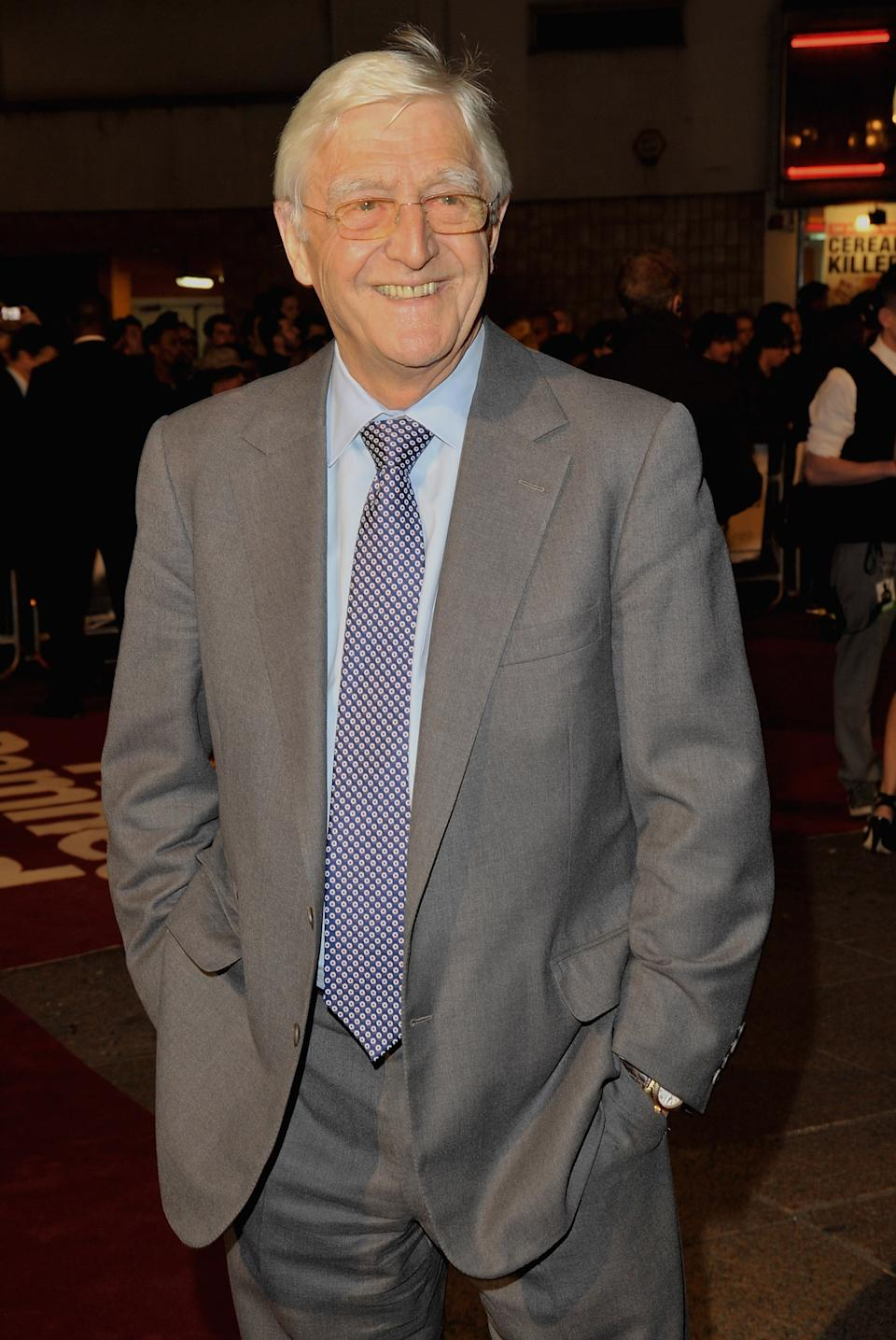 "Michael Parkinson attends ""The Damned United"" film premiere held at the Vue West End cinema on March 18, 2009  in London, England.  (Photo by Jon Furniss/WireImage)"
