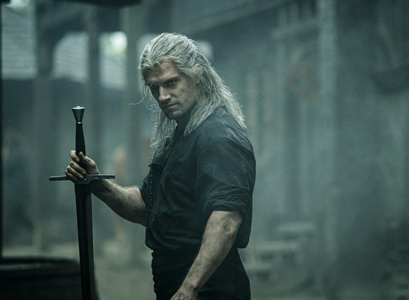 "This image released by Netflix shows Henry Cavill in a scene from ""The Witcher,"" premiering on Netflix on Dec. 20. (Katalin Vermes/Netflix via AP)"