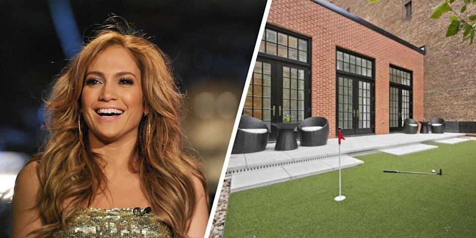 <p>Why settle for golfing at a country club when you can bring the sport right to your home? That's just what Jennifer Lopez did when she purchased a $22 million NoMad penthouse, including a putting green on the roof deck as part of its 3,000 square feet of outdoor space.</p>