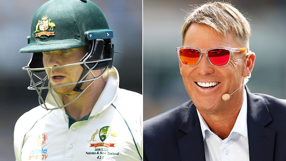 Pictured on the right, Shane Warne's advice helped Pakistan get Steve Smith out cheaply.
