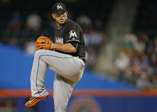 <p>Jose Fernandez was a star of the MLB and widely considered one of its best pitchers when he died in a boating accident on September 25 at age 24. — (Pictured) Pitcher Jose Fernandez #16 of the Miami Marlins in action against the New York Mets during a game at Citi Field on August 29, 2016 in the Flushing neighborhood of the Queens borough of New York City. (Rich Schultz/Getty Images) </p>