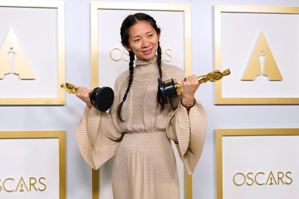Chloe Zhao is the first Asian woman to receive the Best Director OscarAP