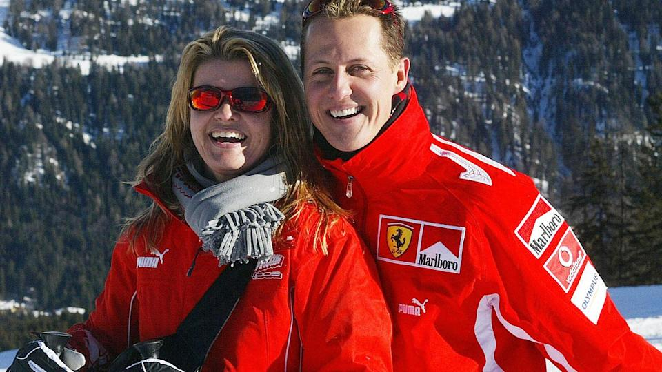 Michael Schumacher and wife Corinna in 2005. (STR/AFP/Getty Images)