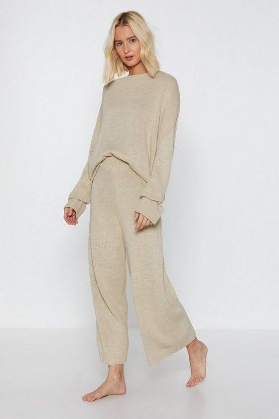 <p>You can dress this <span>You've Met Your Match Knitted Lounge Set</span> ($40, originally $80) up with a chunky necklace and some Chelsea boots, or down with sneakers and a denim jacket.</p>