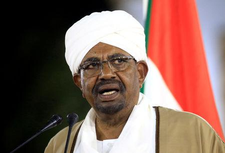 FILE PHOTO: Sudan's President Omar al-Bashir delivers a speech at the Presidential Palace in Khartoum